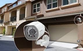 Outdoor mounted security camera